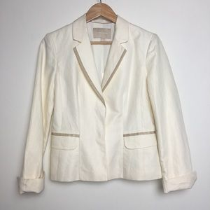 NWT Banana Republic Linen Cream Blazer (6)